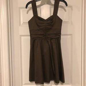 Express Women's Mini Dress Size 2 in Olive/Brown